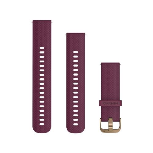 [가민] 퀵릴리즈 20mm 실리콘 밴드 A 체리색 (Berry)